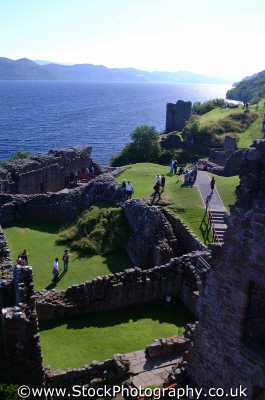 urquart castle loch ness scottish castles british architecture architectural buildings uk monsters legends lakes nessie highlands islands scotland scotch scots escocia schottland united kingdom