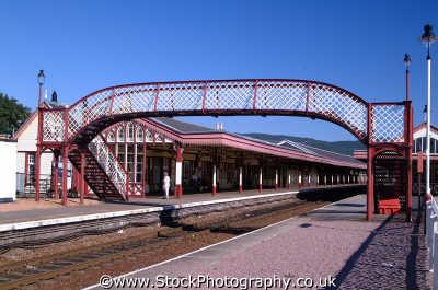 aviemore railway station uk stations railways railroads transport transportation trains moray morayshire scotland scottish scotch scots escocia schottland united kingdom british