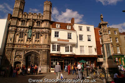 canterbury cathedral entrance town square chequers hope uk cathedrals worship religion christian british architecture architectural buildings kent england english angleterre inghilterra inglaterra united kingdom