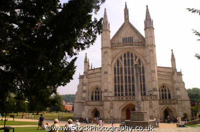 winchester cathedral uk cathedrals worship religion christian british architecture architectural buildings hampshire hamps england english angleterre inghilterra inglaterra united kingdom