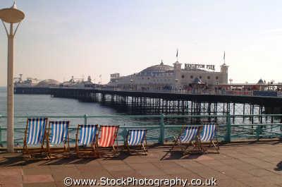 brighton deckchairs pier piers uk coastline coastal environmental seaside sussex home counties england english angleterre inghilterra inglaterra united kingdom british