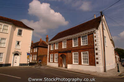chichester town centre houses south east southeast england english uk sussex home counties angleterre inghilterra inglaterra united kingdom british