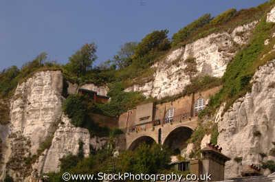 dover habitation built white cliffs south east southeast england english uk kent angleterre inghilterra inglaterra united kingdom british