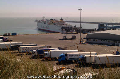ramsgate ferry terminal hgv lorries south east southeast england english uk kent angleterre inghilterra inglaterra united kingdom british