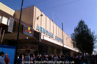 arndale shopping centre bombed ira 1996 uk centres retailers trade centers commercial buildings british architecture architectural department stores explosions terrorism manchester england english angleterre inghilterra inglaterra united kingdom