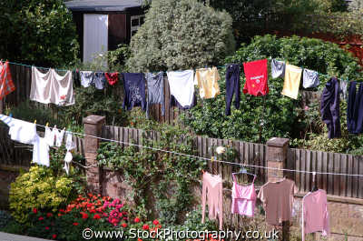 washing line abstracts misc. pants socks bra norfolk england english angleterre inghilterra inglaterra united kingdom british