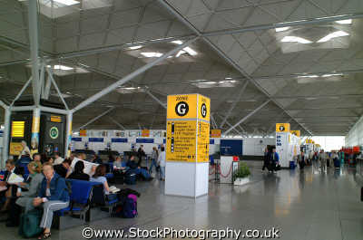 stansted airport departure lounge uk airports aviation airfield aircraft transport transportation air travel flying essex england english angleterre inghilterra inglaterra united kingdom british