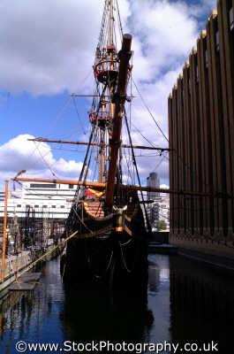 golden hinde dock pickfords wharf historical britain history science misc. sir francis drake ship southwark london cockney england english angleterre inghilterra inglaterra united kingdom british