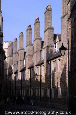 receding chimneys trinity lane cambridge east anglia midlands england english uk cambridgeshire home counties angleterre inghilterra inglaterra united kingdom british