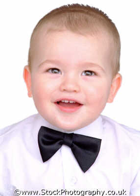 baby boy bow tie boys babies male child males masculine manlike manly manful virile mannish people persons happy happiness white caucasian portraits