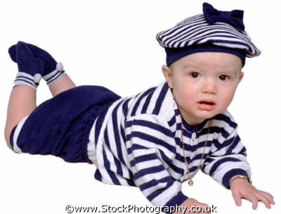 baby boy sailor suit crawling boys babies male child males masculine manlike manly manful virile mannish people persons white caucasian portraits