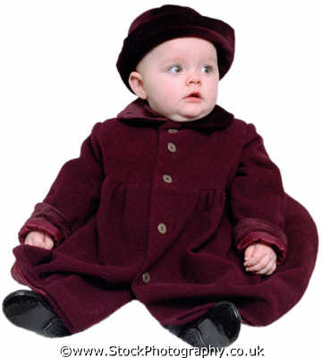 baby girl purple coat babies infants girls female children kids juveniles females feminine womanlike womanly womanish effeminate ladylike people persons wonder awe white caucasian portraits