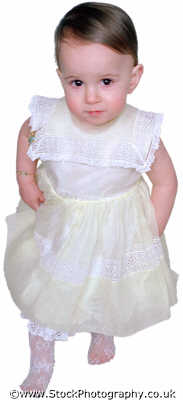 baby girl toddler aged walking lace dress babies infants girls female children kids juveniles females feminine womanlike womanly womanish effeminate ladylike people persons tentative steps white caucasian portraits