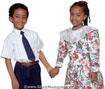 boy girl holding hands boys male child males masculine manlike manly manful virile mannish people persons love companions togetherness muslim islam arab black ethnic portraits