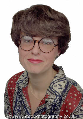 woman forties self assured office worker glasses middle aged women prime menopause female females feminine womanlike womanly womanish effeminate ladylike people persons prim dependable pa personal assistant white caucasian portraits