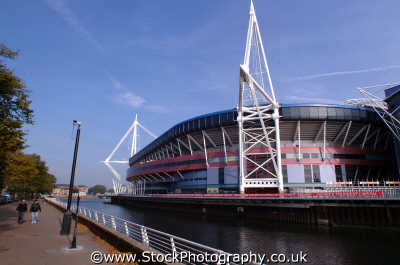 millenium stadium cardiff uk venues british architecture architectural buildings glamorgan wales welsh país gales united kingdom