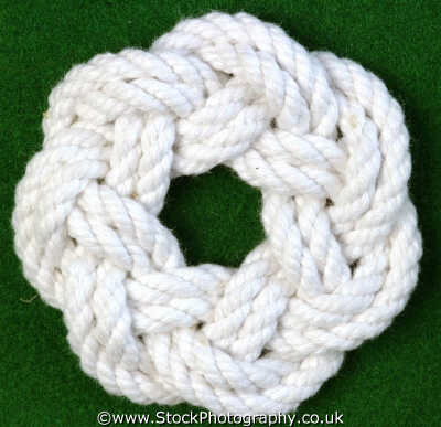 flat turks head bight knots knotted knotting marine misc. rope