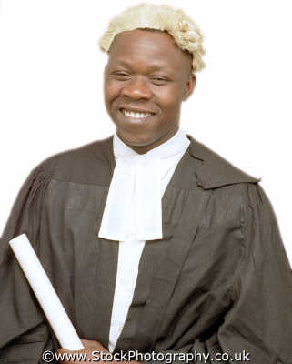 man thirties barrister wig gown middle aged men adult males masculine manlike manly manful virile mannish people persons legal lawyer justice law brief negroes black ethnic portraits