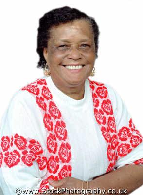 woman sixties elderly smiling women aged old senior female females feminine womanlike womanly womanish effeminate ladylike people persons happy genuine negroes black ethnic portraits