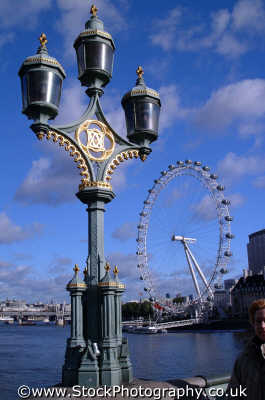 london eye lampost famous sights capital england english uk wheel westminster cockney angleterre inghilterra inglaterra united kingdom british