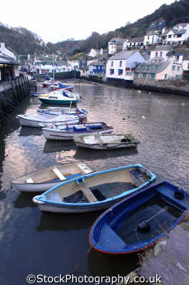 moored boats polperro south west england southwest country english uk marine mooring cornwall cornish angleterre inghilterra inglaterra united kingdom british