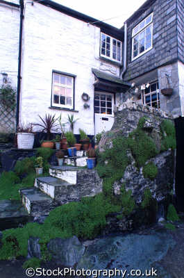 cottage steps polperro south west england southwest country english uk home cornwall cornish angleterre inghilterra inglaterra united kingdom british