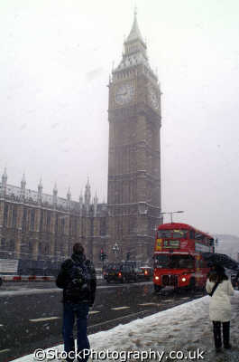 big ben blizzard parliament square famous sights london capital england english uk winter weather westminster cockney angleterre inghilterra inglaterra united kingdom british