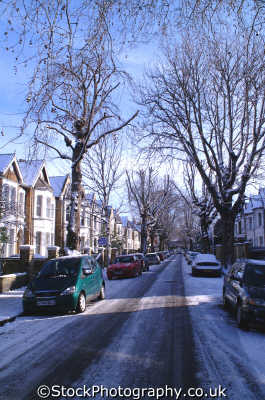 street scene snow kew buildings architecture london capital england english uk winter weather richmond cockney angleterre inghilterra inglaterra united kingdom british