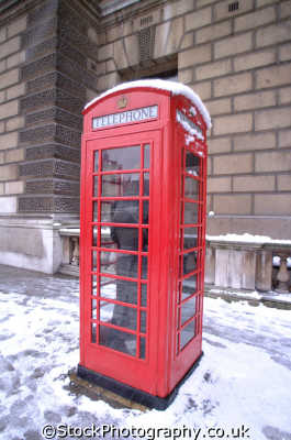 phone box snow whitehall british telecom telecommunications telephone uk media communications winter weather westminster london cockney england english angleterre inghilterra inglaterra united kingdom