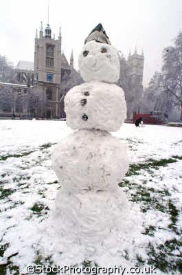 snowman parliament square famous sights london capital england english uk winter weather westminster cockney angleterre inghilterra inglaterra united kingdom british