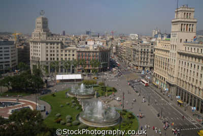 views catalunya square barcelona costa dorada mediterranean catalonia spanish espana european travel spain spanien españa espagne la spagna europe