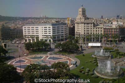 views catalunya square barcelona costa dorada mediterranean catalonia spanish espana european travel spain spanien españa espagne la spagna europe