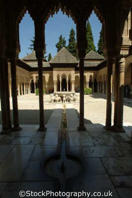 patio los leones palacios nazaries alhambra andalucia spanish espana european travel granada spain spanien españa espagne la spagna europe