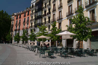 cafes plaza oriente madrid spanish espana european travel spain spanien españa espagne la spagna europe