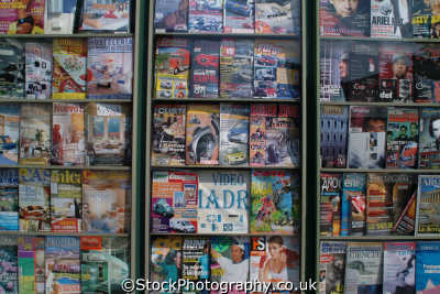 periodical stand madrid spanish espana european travel magazines newspapers spain spanien españa espagne la spagna europe