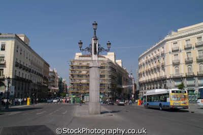 puerta del sol madrid spanish espana european travel spain spanien españa espagne la spagna europe