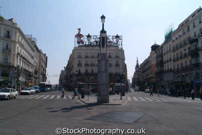 puerta del sol madrid spanish espana european travel spain spanien españa espagne la spagna europe