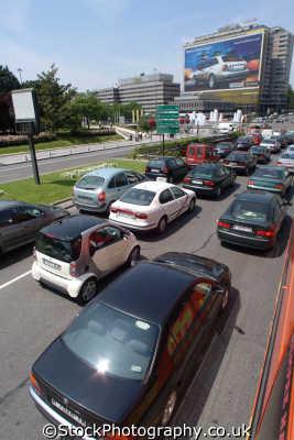 traffic jam madrid spanish espana european travel spain spanien españa espagne la spagna europe