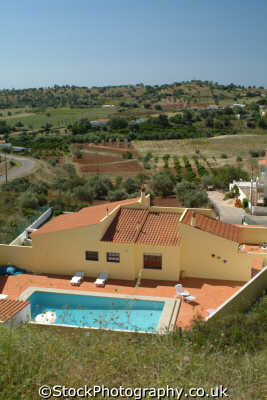 house swimming pool algarve portuguese portugese european travel portugal europe