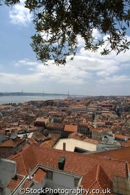 lisbon aerial view portuguese portugese european travel lisboa portugal europe