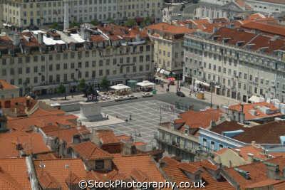 praca da figueira aerial view portuguese portugese european travel lisbon lisboa portugal europe