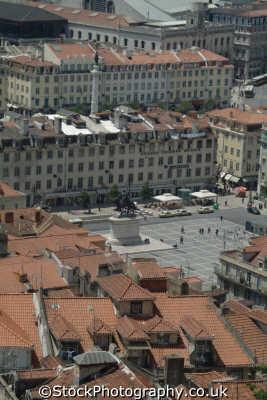 praca da figueira lisbon aeriel view portuguese portugese european travel lisboa portugal europe
