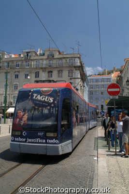 tram lisbon portuguese portugese european travel transport lisboa portugal europe