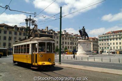 tram praca da figueira lisbon portuguese portugese european travel transport lisboa portugal europe