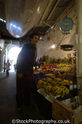market stall tangiers moroccan african travel morocco maroc africa