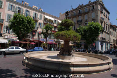 fountain cannes provence cote azur riviera mediterranean south french european travel provence-alpes-côte provence alpes côte provencealpescôte france la francia frankreich europe