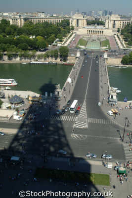 aerial paris shadow eiffel tower seine french european travel parisienne france la francia frankreich europe