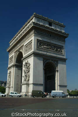 arc triomphe paris quarters view french european travel parisienne france la francia frankreich europe