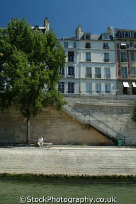 footpath steps seine paris french european travel parisienne france la francia frankreich europe