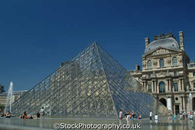 glass pyramid louvre paris french european travel parisienne france la francia frankreich europe